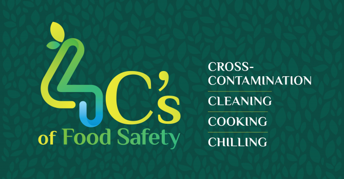 4C's of Food Safety: Cross-Contamination, Cleaning, Cooking and Chilling